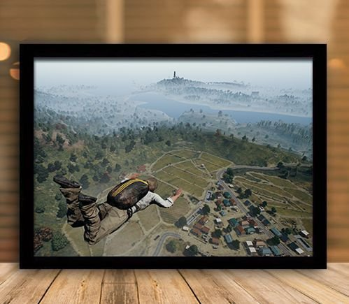 Poster com Moldura - Playerunknown's Battlegrounds PUGB   Mo.16