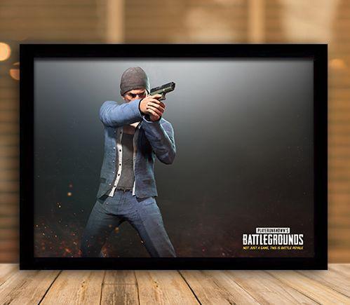 Poster com Moldura - Playerunknown's Battlegrounds PUGB   Mo.25
