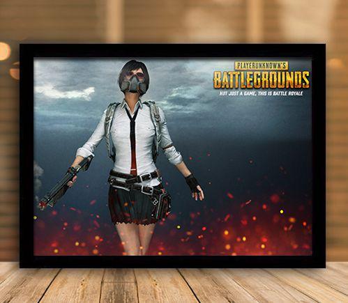 Poster com Moldura - Playerunknown's Battlegrounds PUGB   Mo.26