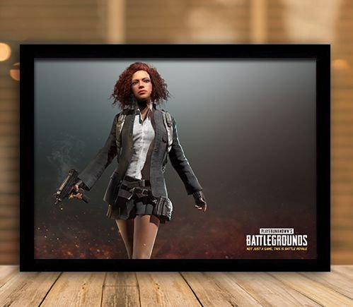 Poster com Moldura - Playerunknown's Battlegrounds PUGB   Mo.27