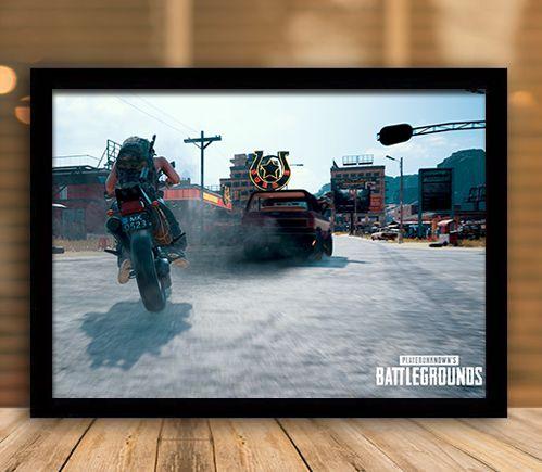 Poster com Moldura - Playerunknown's Battlegrounds PUGB   Mo.29