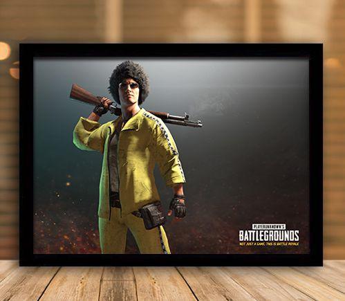 Poster com Moldura - Playerunknown's Battlegrounds PUGB   Mo.32