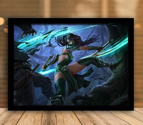 Poster com Moldura - League of Legends LoL Akali