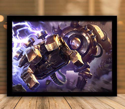 Poster com Moldura - League of Legends LoL Blitzcrank