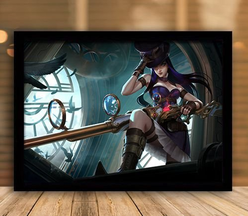 Poster com Moldura - League of Legends LoL Caitlyn