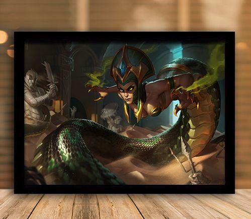 Poster com Moldura - League of Legends LoL Cassiopeia