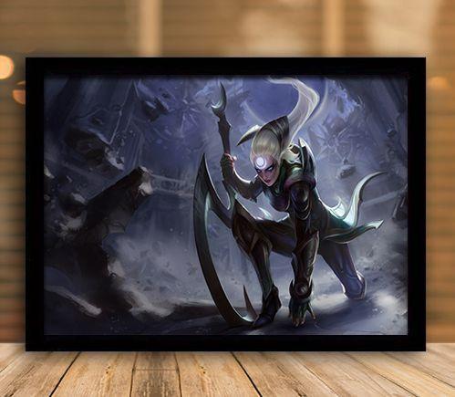 Poster com Moldura - League of Legends LoL Diana