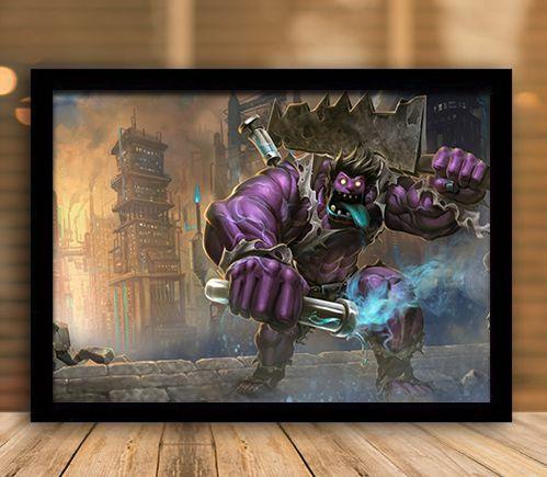 Poster com Moldura - League of Legends LoL DrMundo