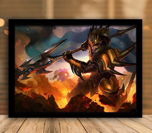 Poster com Moldura - League of Legends LoL JarvanIV
