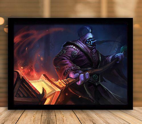 Poster com Moldura - League of Legends LoL Jax