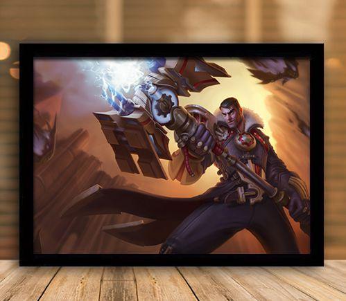 Poster com Moldura - League of Legends LoL Jayce