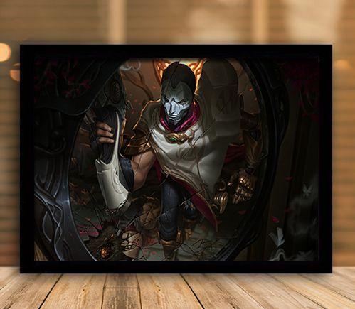 Poster com Moldura - League of Legends LoL Jhin