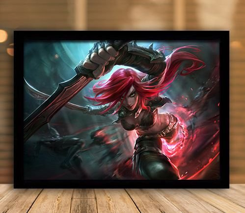 Poster com Moldura - League of Legends LoL Katarina