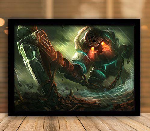 Poster com Moldura - League of Legends LoL Nautilus