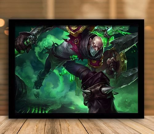 Poster com Moldura - League of Legends LoL Singed