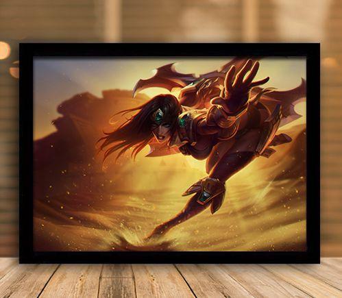 Poster com Moldura - League of Legends LoL Sivir