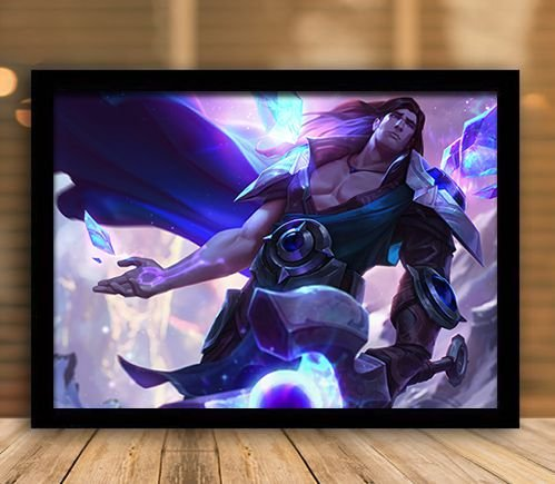 Poster com Moldura - League of Legends LoL Taric