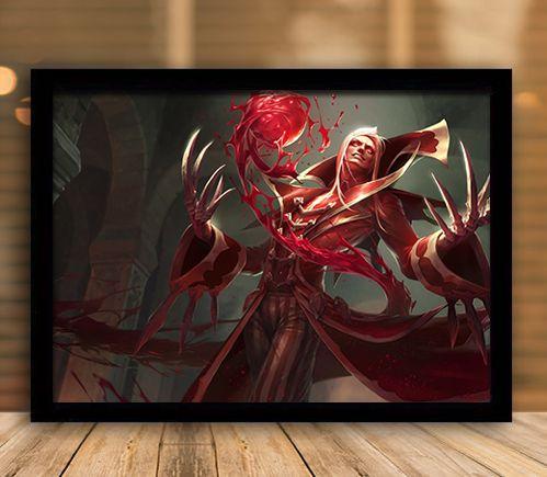 Poster com Moldura - League of Legends LoL Vladimir