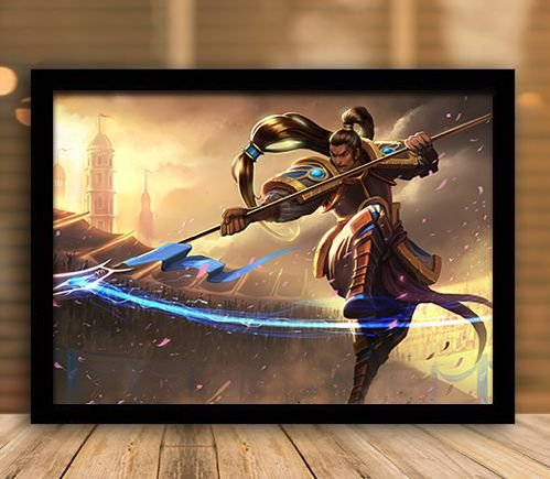Poster com Moldura - League of Legends LoL XinZhao