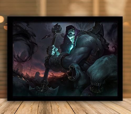 Poster com Moldura - League of Legends LoL Yorick