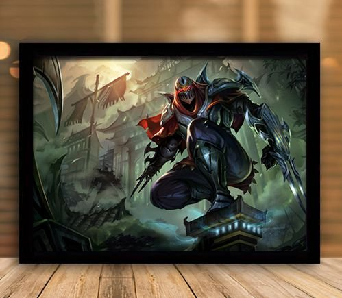 Poster com Moldura - League of Legends LoL Zed