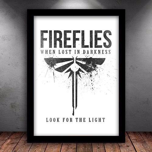 Poster com Moldura - The Last Of Us Vagalumes