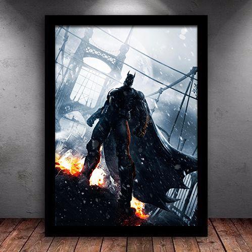 Poster com Moldura - Batman The  Rage