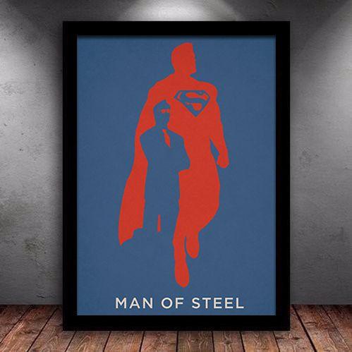 Poster com Moldura - Superman Man Of Steel
