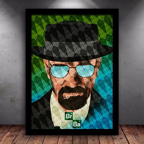 Poster com Moldura - Breaking Bad W. White Art