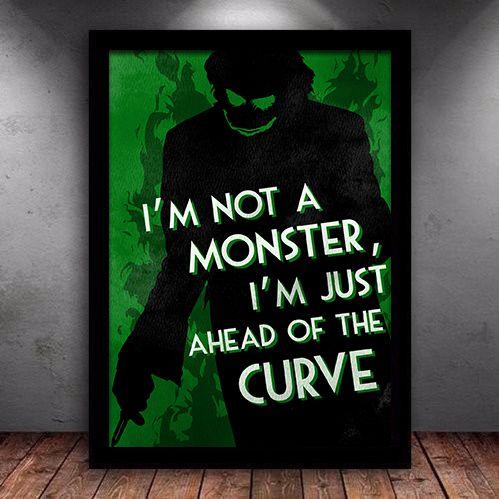 Poster com Moldura - Coringa I am Not a Monster