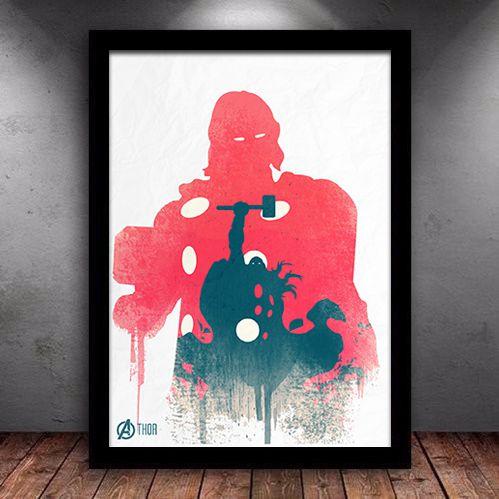 Poster com Moldura - Thor Vingadores
