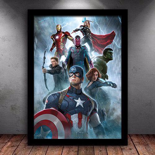 Poster com Moldura - Os Vingadores