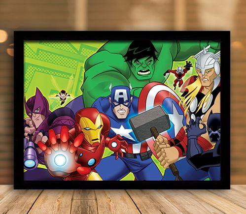 Poster com Moldura - Vingadores Série Animada