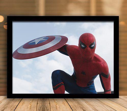 Poster com Moldura - Homem Aranha Guerra Civil