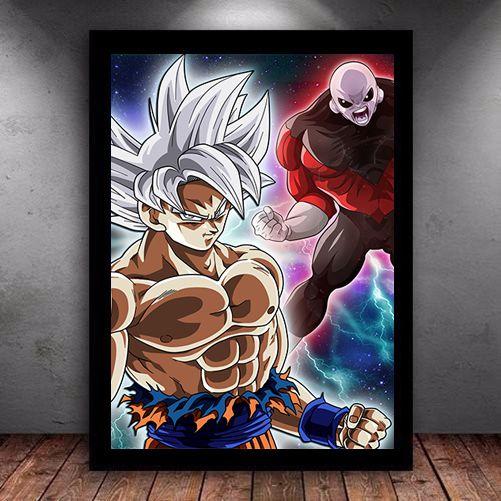 Poster com Moldura - Goku x Jiren Ball Super
