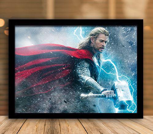Poster com Moldura - Thor God Of Thunder