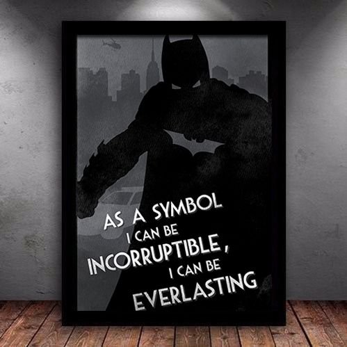 Poster com Moldura - Batman As A Symbol