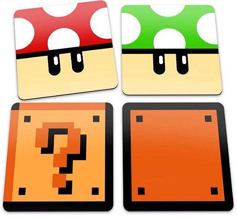 Porta Copos - Super Mario Grow Up Get A Life