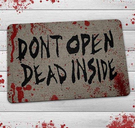 Tapete Capacho The Walking Dead Dont Open