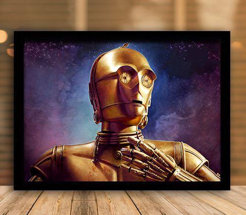 Poster com Moldura - C-3PO