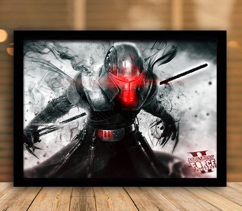 Poster com Moldura - Star Wars Force Unleashed