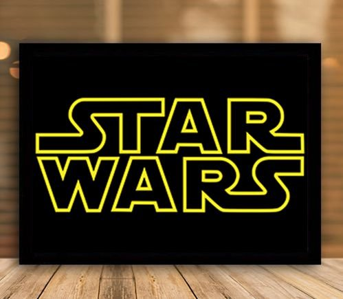 Poster com Moldura - Star Wars