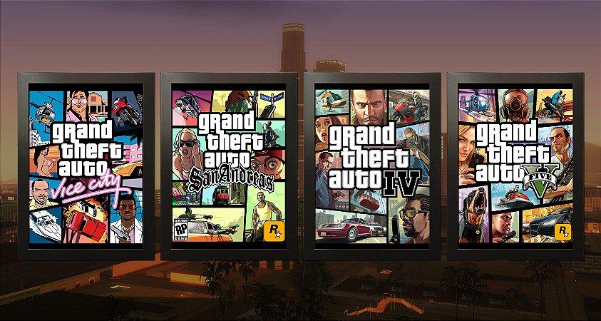 Kit Coleção - Grand Theft Auto GTA Collection