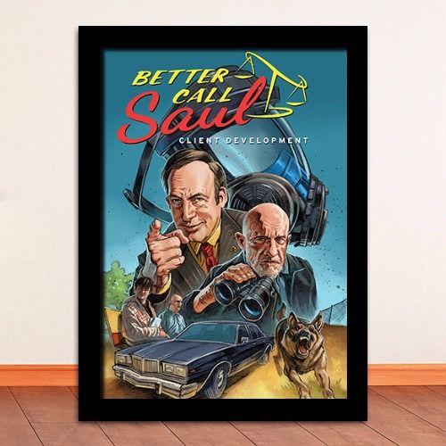 Poster com Moldura - Breaking Bad Better Call Saul