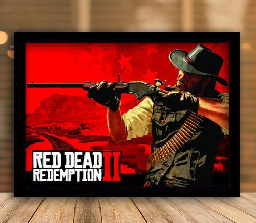 Poster com Moldura - Red Dead Redemption 2