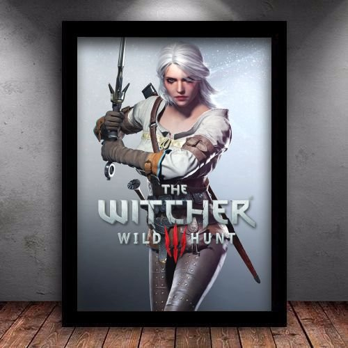 Poster com Moldura - Ciri The Witcher 3