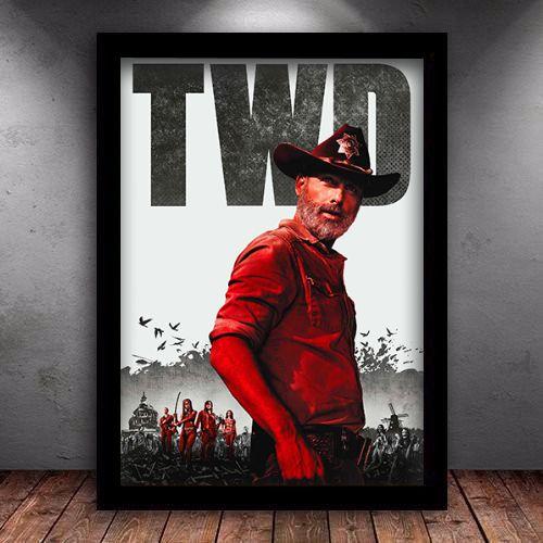 Poster com Moldura - The Walking Dead Rick
