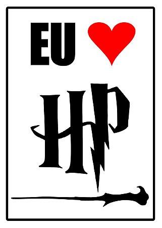 Placa MDF - Eu Amo Harry Potter