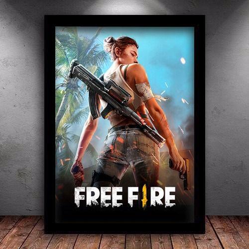 Poster com Moldura - Free Fire