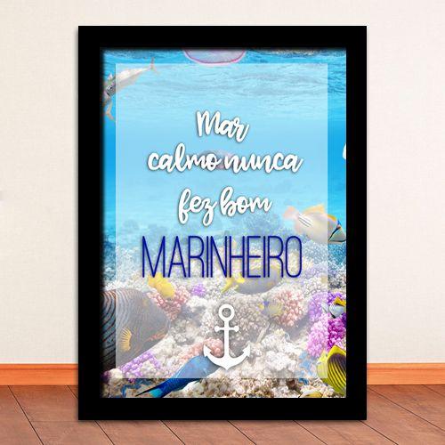 Poster com Moldura - Mar Calmo
